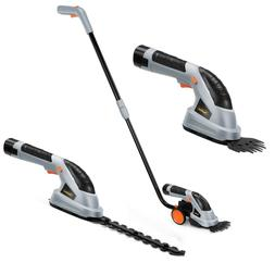 VonHaus 2-in-1 Cordless Grass Shears / Hedge Trimmer wheeled
