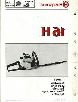 HUSQVARNA 16H HEDGE TRIMMER PARTS MANUAL