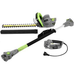 2 in 1,  Electric Multi-Tool 18 in. 4.5 Amp Garden Pole/Hedg