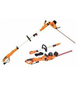 "Garcare 2-in-1 Pole Handheld Hedge Trimmer, 20"" Laser Blade"