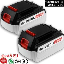 20V 4.0AH For Black & Decker MAX Lithium Battery LBXR20 LB20