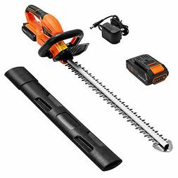"""20V Cordless Hedge Trimmer 24"""" Dual Action Blade w/ Battery"""