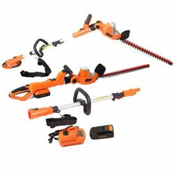 Garcare 20V Li-Ion Cordless 2 In 1 Pole And Portable Hedge T