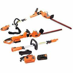 GARCARE 20V Li-ion Cordless In 1 Pole And Portable Hedge Tri