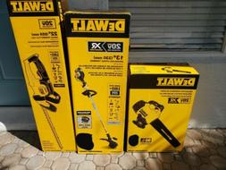 Dewalt 20v XR Trimmer, Blower And 20v Hedge Trimmer )