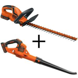 22 in. 20-Volt Max Lithium-Ion Cordless Hedge Trimmer with B