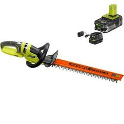 RYOBI Hedge Trimmer Tool ONE+ Li-Ion 22 in. 18-Volt Cordless