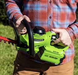 Greenworks 24 in. 40V Cordless Hedge Trimmer w/Rotating Hand
