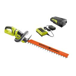Ryobi 24-in 40V Cordless Hedge Trimmer with Lithium-Ion Batt