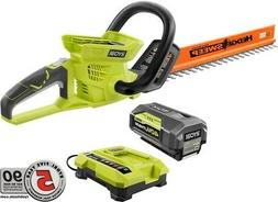 Hedge Trimmer Cordless 24 in. 40V Lithium-Ion Hand Held With