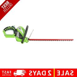Greenworks 24-Inch 40V Cordless Hedge Trimmer with Rotating