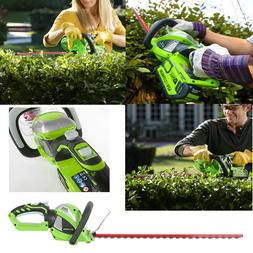 Greenworks 24Inch 40V Cordless Hedge Trimmer with Rotating H