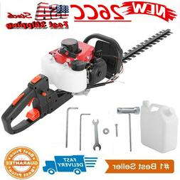 "26CC 2-Cycle Gas Hedge Trimmer 24"" Double-Sided Blade Recoil"