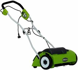 Greenworks 27022 10 Amp 14-in Electric Dethatcher