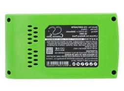 29852 Battery for GreenWorks G24, G-24, 22-Inch Cordless Hed