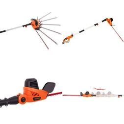 Garcare 4.8-Amp Multi-Angle Corded Pole Hedge Trimmer With 2