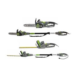 Earthwise 4-in-1 Electric Chainsaw with Pole Saw, Hedge Trim