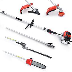 Maxtra 42.7cc Multi-Functional 4 in 1 Pole Hedge Trimmer, Ga