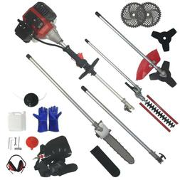 5 in 1 52cc Petrol Hedge Trimmer Chainsaw Brush Cutter Pole