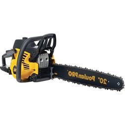 "Poulan Pro 20"" 50CC Gas Powered 2 Cycle Chain Saw Home Tree"