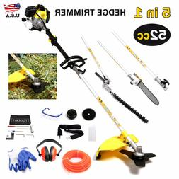 52cc 4 in 1 Hedge Trimmer Multi Tool Garden Chainsaw Petrol