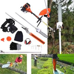 52cc 5 in 1 Petrol Hedge Trimmer Grass Strimmer Pruner Chain