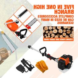 52cc Heavy Duty 5 in1 Petrol Strimmer Grass Trimmer hedge tr