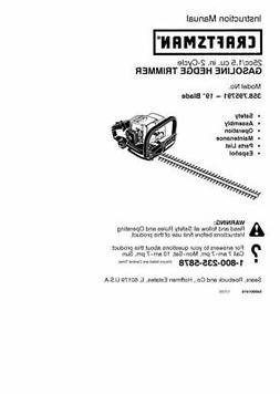 Husqvarna 545001419 Hedge Trimmer Owner's Manual