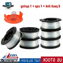 6Pack Line String Black&Decker Trimmer Replacement Spool 30f