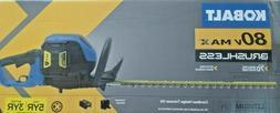 Kobalt 80v Max Cordless Hedge Trimmer w Battery & Charger KH