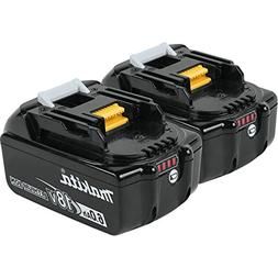 Makita BL1860B2 2pk 18V 6AH LI-ION Battery With Fuel Gauge N