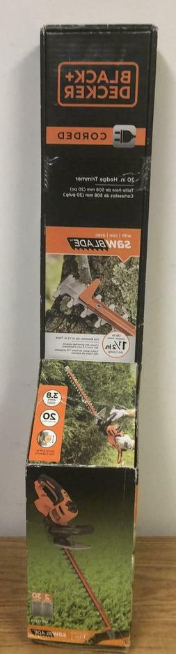"""Black & Decker 20"""" corded hedge trimmer with saw"""