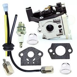 QAZAKY Carburetor with Fuel Filter Maintenance Kit Spark Plu