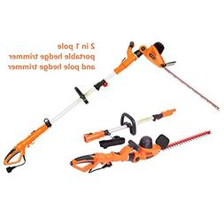 "NBCYHTS Corded Electric Hedge Trimmer with 20"" Laser Blade,"