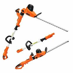Garcare Corded Pole Hedge Trimmer - 4.8A Electric Hedge Trim
