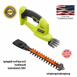RYOBI Cordless Hedge Trimmer 18-V Lithium-Ion 5/16 in Dual a