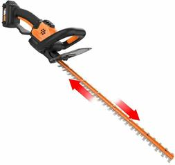 """WORX Cordless Hedge Trimmer 22""""  20V Max Power Share Battery"""