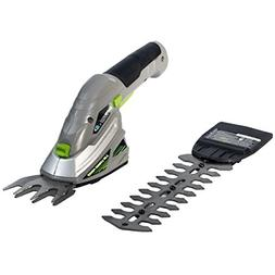 Cordless Rechargeable 2-in-1 Shrub Shear and Hedge Trimmer C