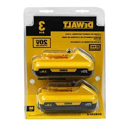 DEWALT DCB230-2  20V MAX  Lithium Ion Battery Pack 3.0Ah, 2