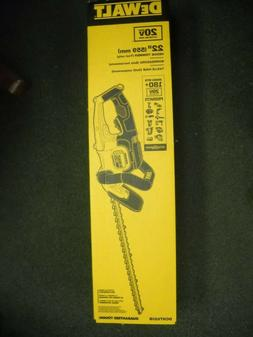 "Dewalt DCHT820B 22"" Hedge Trimmer 20V Max Lithium Ion BARE T"