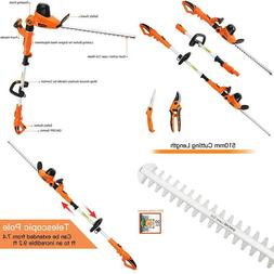 Garcare Electric Hedge Trimmers 4.8A Pole Hedge Trimmer Cord