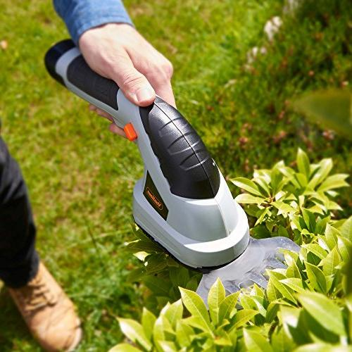 VonHaus 2 Cordless Trimmer Wheeled Handle, Gray,