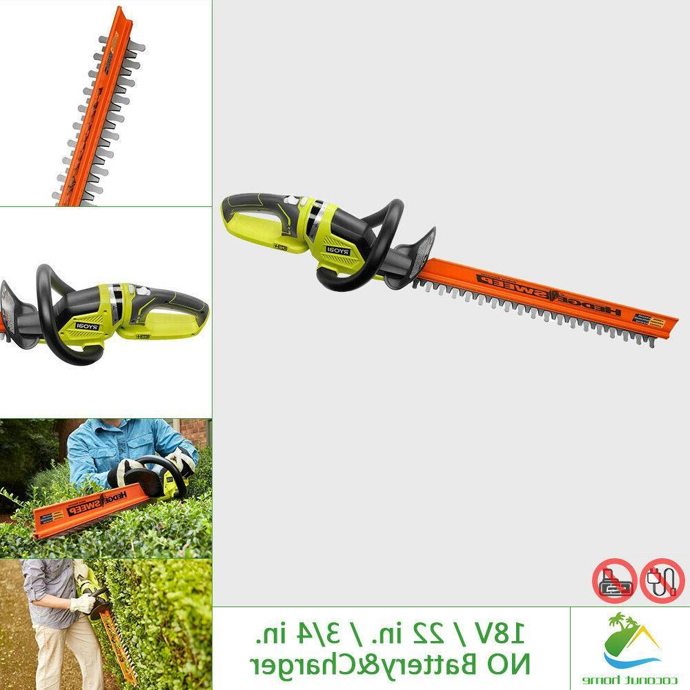 18v hedge trimmer 22in dual side blade