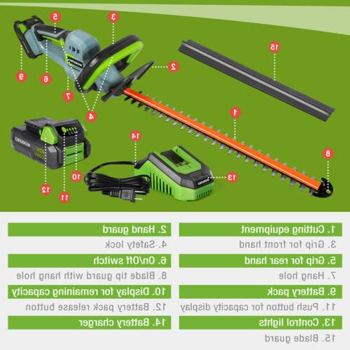 WORKPRO 20V Trimmer Dual Blade Battery & Charger