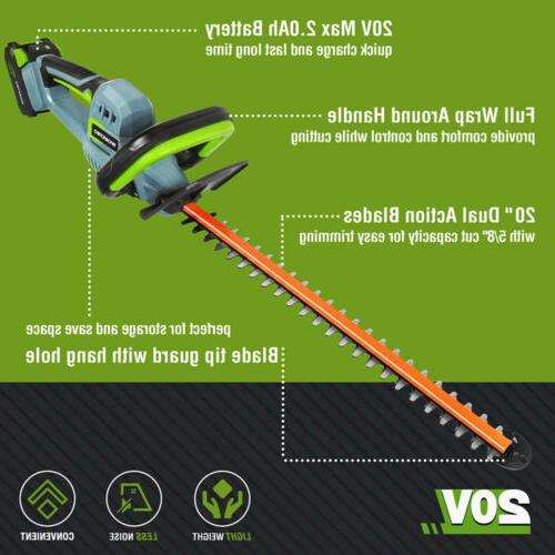"""WORKPRO Trimmer 20"""" Charger"""