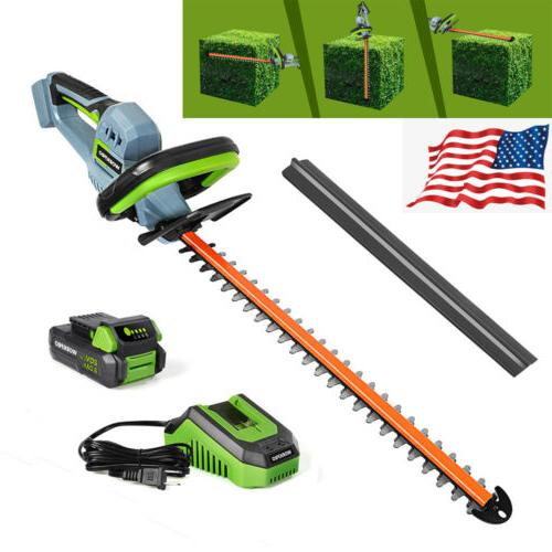 20v cordless hedge trimmer 20 dual action