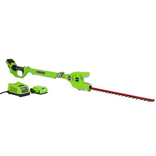 Greenworks 24V Cordless Lithium-Ion 18 in. Dual Hedge