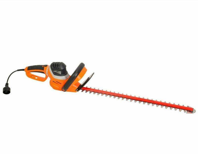 Garcare 4.8-Amp Corded Hedge Trimmer With Rotating Handle An