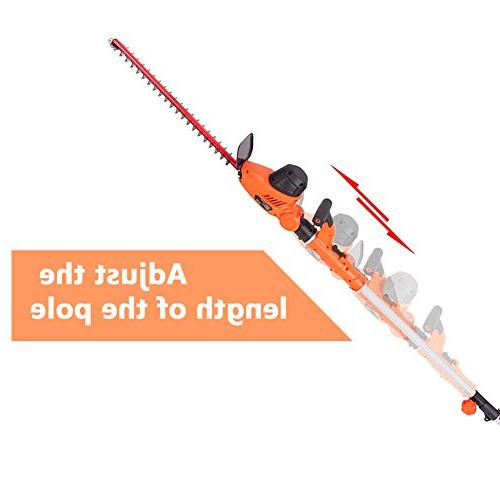 GARCARE 4.8A Corded and Hedge Trimmer with Inch Blade