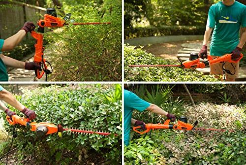 GARCARE 4.8A Multi-Angle Corded 2 in 1 Pole and Portable Hedge with 20 Inch
